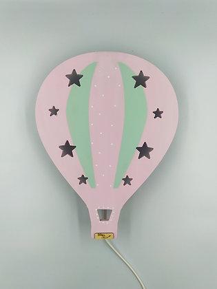 Φωτιστικό Αερόστατο Ροζ με Μέντα