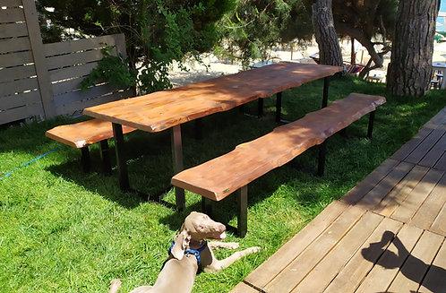 Σετ Ξύλινο Τραπέζι με παγκάκια