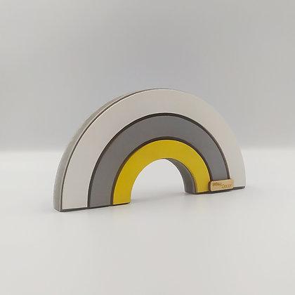 Ουράνιο Τόξο Λευκό Γκρι Κίτρινο