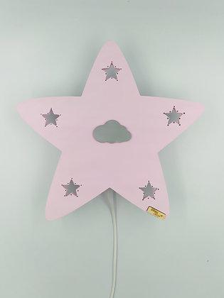 Φωτιστικό Αστέρι ροζ