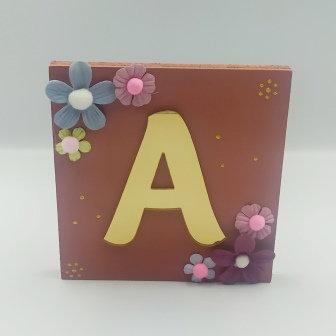 Καδράκι κεραμιδί με plexiglass γράμμα