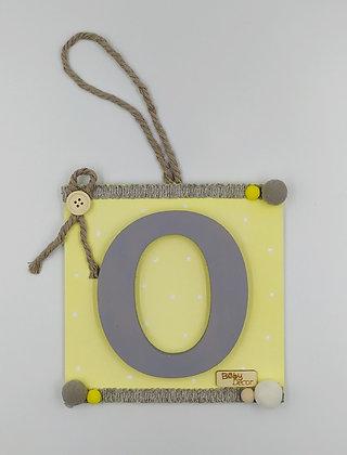 Μονόγραμμα γκρι με κίτρινο