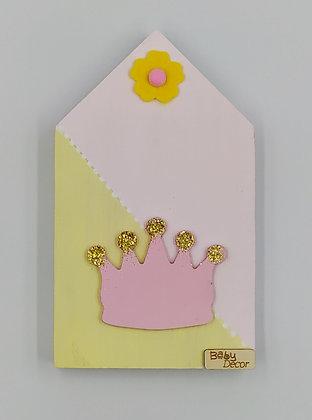 Ξύλινο Σπιτάκι Κίτρινο-Ροζ