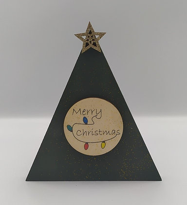 """Τρίγωνο """"Merry Christmas""""στεκούμενο κυπαρισί"""