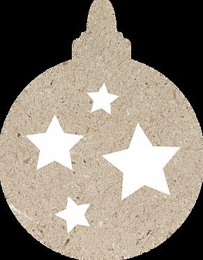 Στολίδι μπάλα με αστεράκια 700-134