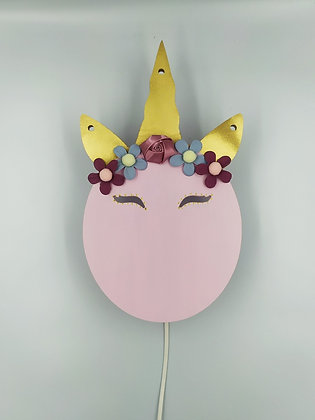 Φωτιστικό Unicorn Head Ροζ