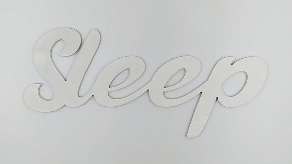 """Λέξη επιτοίχια """"Sleep"""" λευκό"""