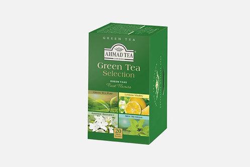 Зелен чай - селекция, Ahmad Tea, 20 фолирани пакетчета