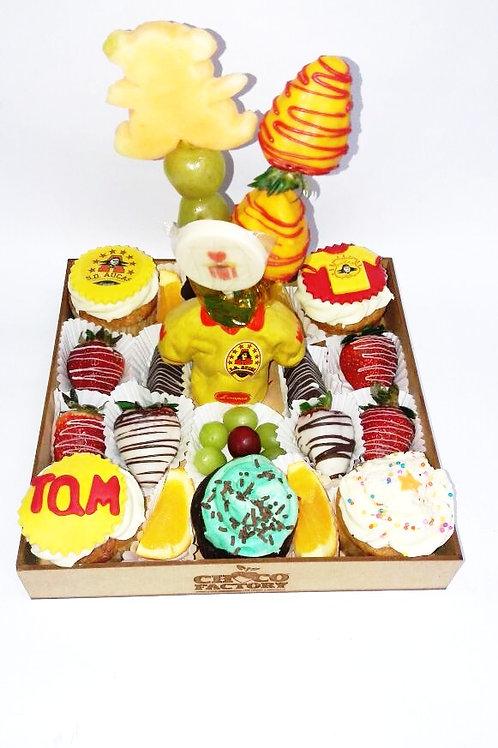 Bandeja Mix Frutas & Cupcakes Aucas