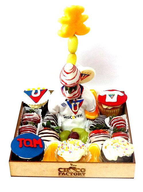Bandeja Mix Frutas & Cupcakes (Liga de Quito)
