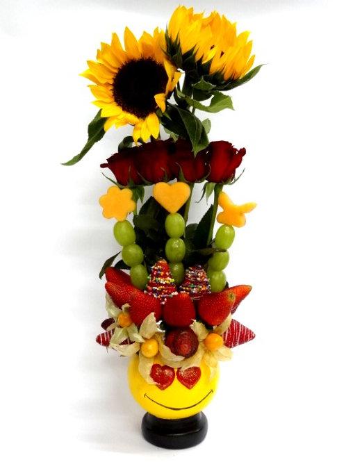 Emoji Enamorado Rosas & Girasoles