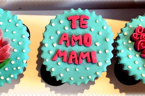 Cupcakes en fondant (caja 3 unid)