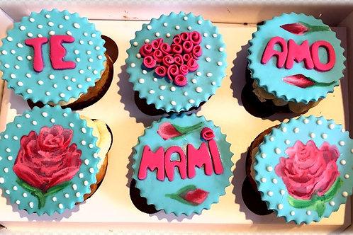 Cupcakes en fondant (caja 6 unid)