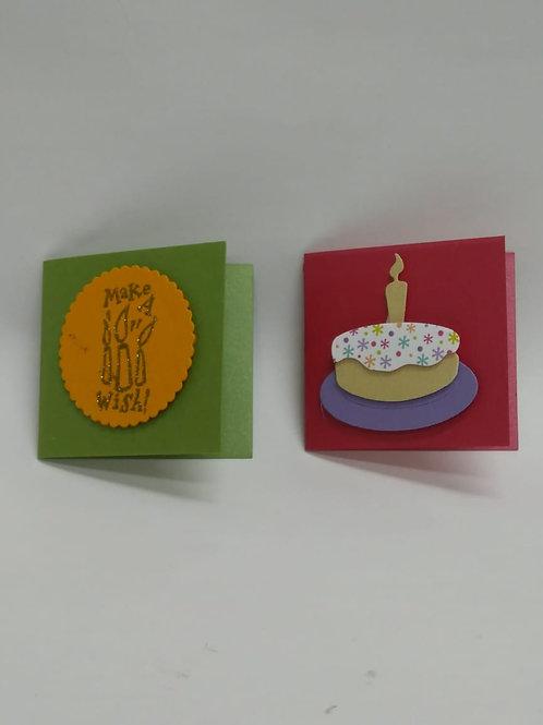 Mini tarjeta artesanal / Cumple