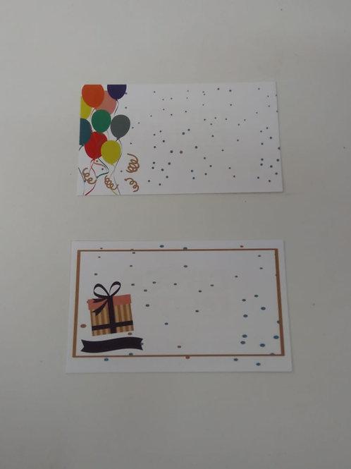Mini tarjeta impresa Cumple
