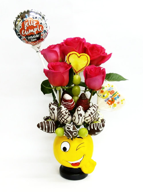 Emoji Coqueto Rosas & Accesorios
