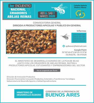 Programa del III Encuentro de criadores de abejas reinas