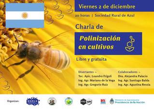 Charla sobre polinización de cultivos en Azul