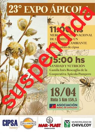 Suspensión de la ExpoApícola Chivilcoy 2020