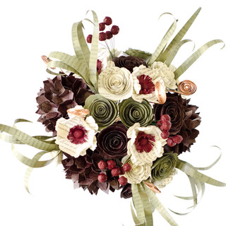 custom book themed wedding bouquet   handmade by Anthology On Main