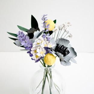 wildflower wedding centerpiece | custom book themed wedding flowers by Anthology On Main