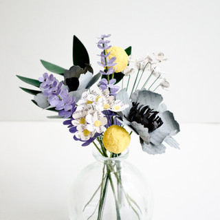 wildflower wedding centerpiece | custom book themed wedding flowers by Anthology On Main
