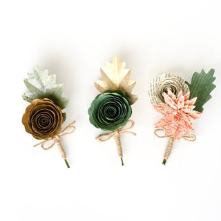 book page boutonnieres | handmade by Anthology On Main