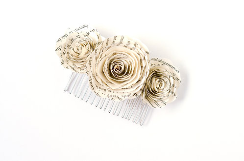 Three Rose Hair Comb with Customization