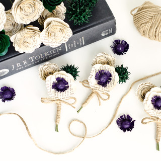 Lord of the Rings boutonnieres | handmade by Anthology On Main