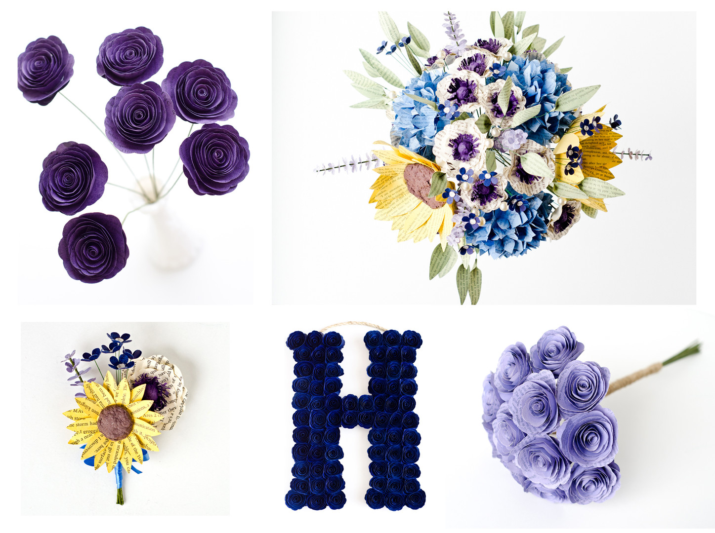 Purple and Blue Themed Wedding