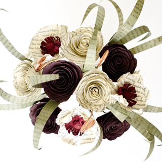 custom book themed bridesmaid bouquet   handmade by Anthology On Main