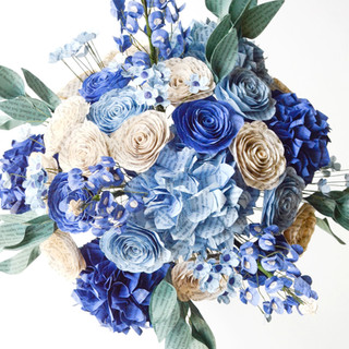 Outlander bridal bouquet in blue color scheme | handmade by Anthology On Main