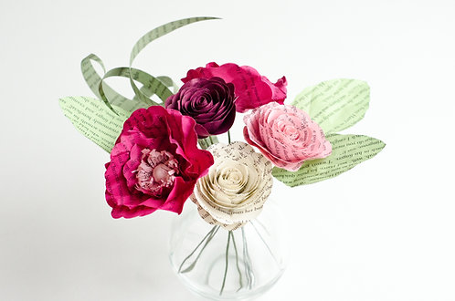 Poppy and Rose Centerpiece with Customization