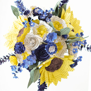 wildflower book bouquet with sunflowers | handmade by Anthology On Main