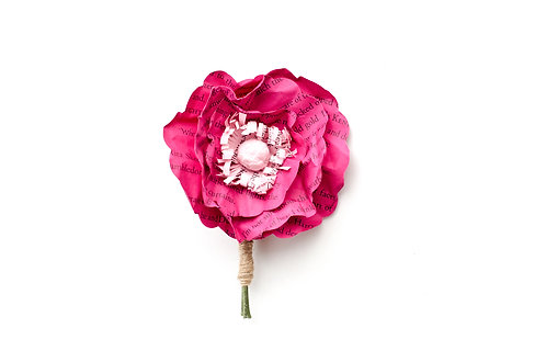 Poppy Lapel Boutonniere with Customization