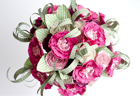 Poppy and Rose Bridal Bouquet with Customization