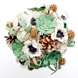 Harry Potter slytherin book bouquet | handmade by Anthology On Main