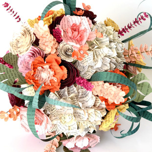 wildflower book bouquet in warm tones | handmade by Anthology On Main