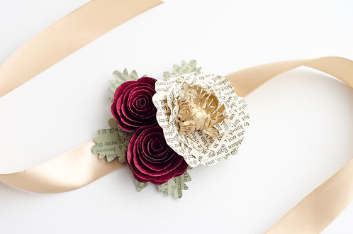 Poppy and Rose Wrist Corsage