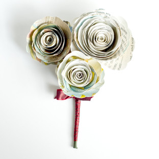 Alice in Wonderland rose corsage | handmade by Anthology On Main