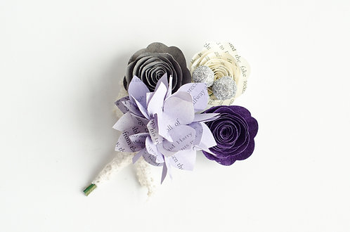 Hydrangea Groom's Lapel Boutonniere with Customization