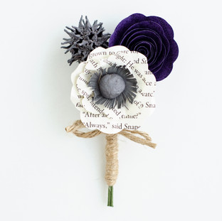 "Harry Potter ""always"" groom's boutonniere 