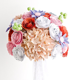 spring bridal bouquet, handmade from book pages | handmade by Anthology On Main