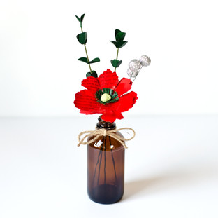 Christmas wedding decor, made from your choice of books | custom book themed wedding flowers by Anthology On Main