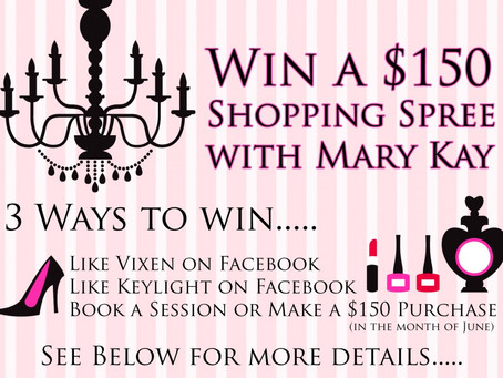 Win a $150 Shopping Spree with Mary Kay!!