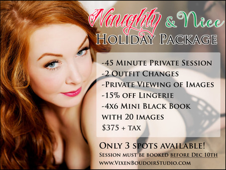 Naughty & Nice Christmas Boudoir Sessions!
