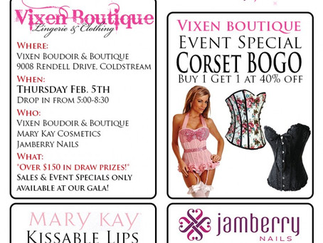 Valentines' Shopping Gala at Vixen Boudoir & Boutique!