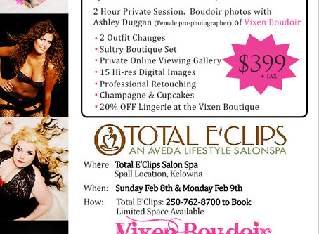 Valentine's Boudoir Event with Total E'Clips SalonSpa