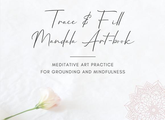 Trace & Fill Mandala Art-book