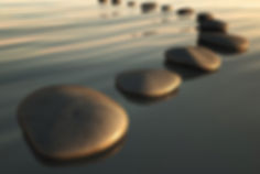Stepping Stones, Calm water and stones, Therapy stones